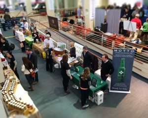 A view of the trading floor at Tuesday's Boston Local Food Trade Show