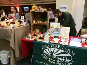 Producers from Vermont Farmstead Cheese and Granby's Red Fire Farm